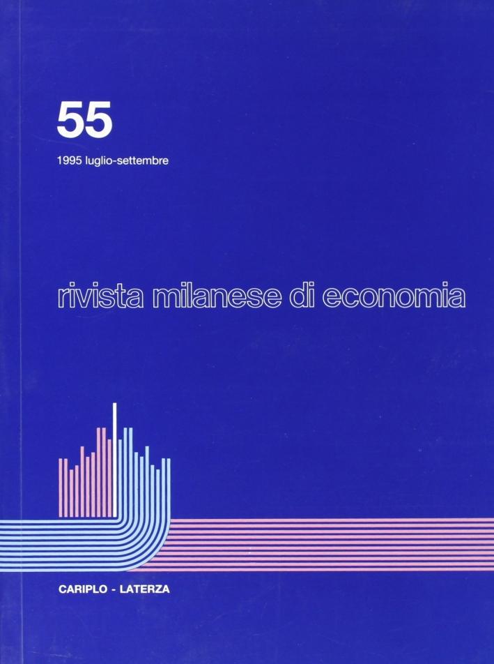 Rivista milanese di economia. Vol. 55