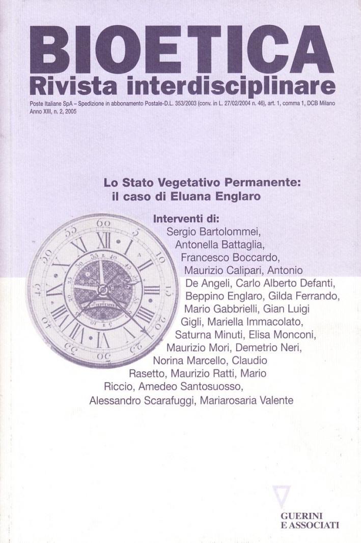 Bioetica. Rivista interdisciplinare (2005). Vol. 2