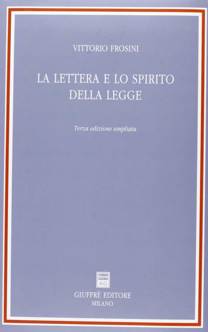 La lettera e lo spirito della legge