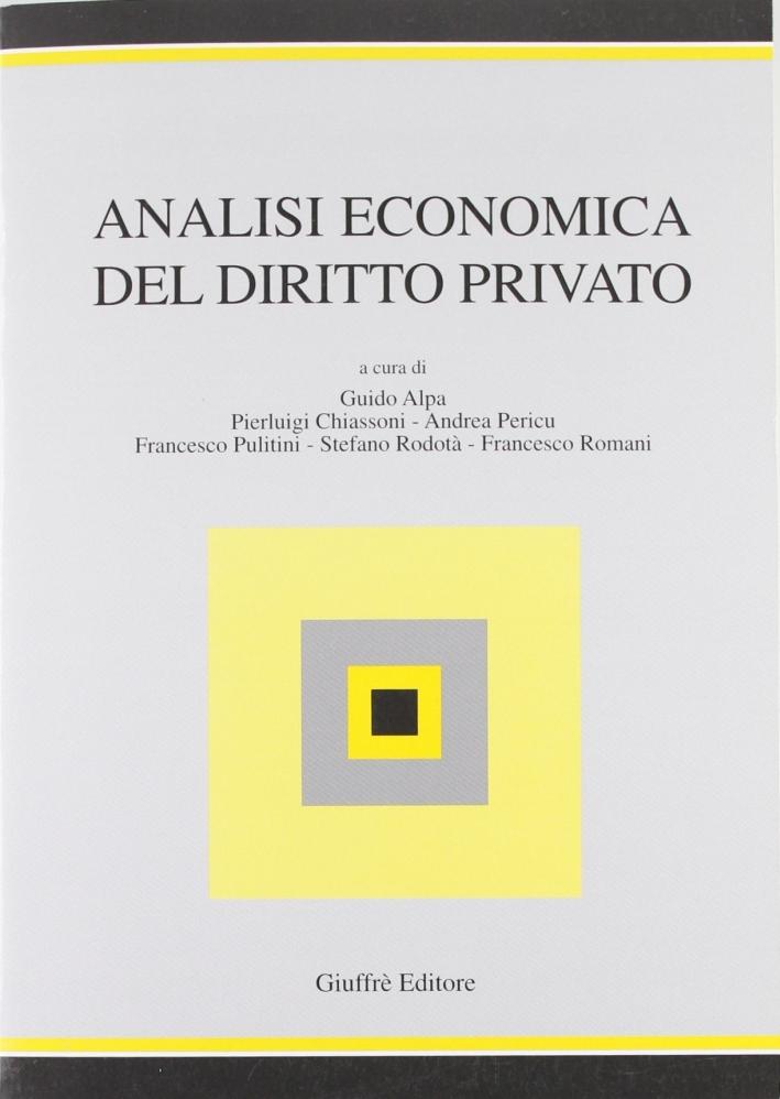 Analisi economica del diritto privato