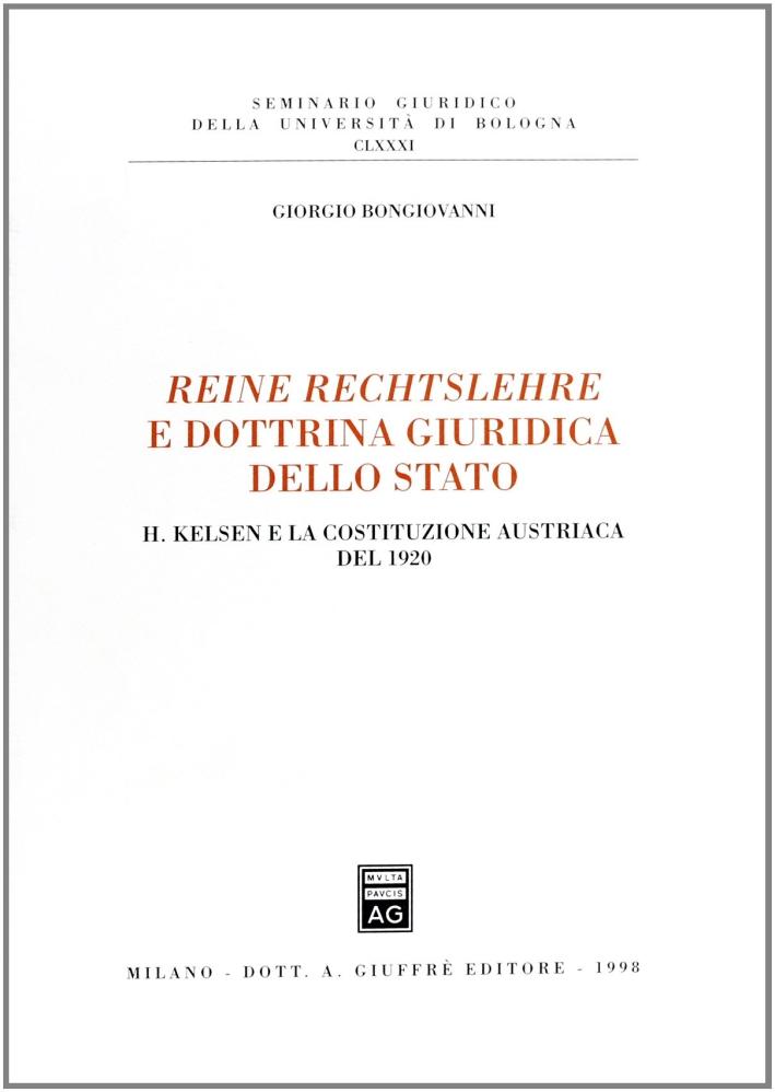 Reine Rechtslehre e dottrina giuridica dello Stato. H. Kelsen e la Costituzione austriaca del 1920