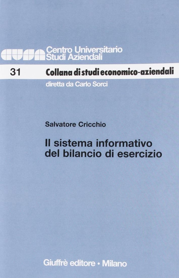 Il sistema informativo del bilancio di esercizio