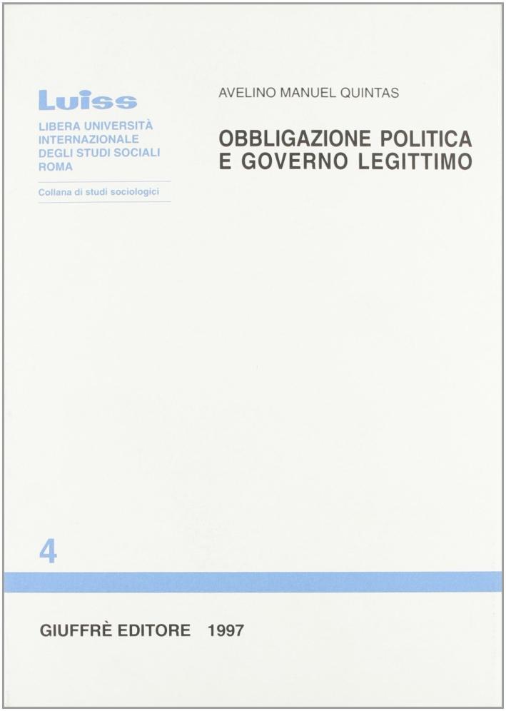 Obbligazione politica e governo legittimo