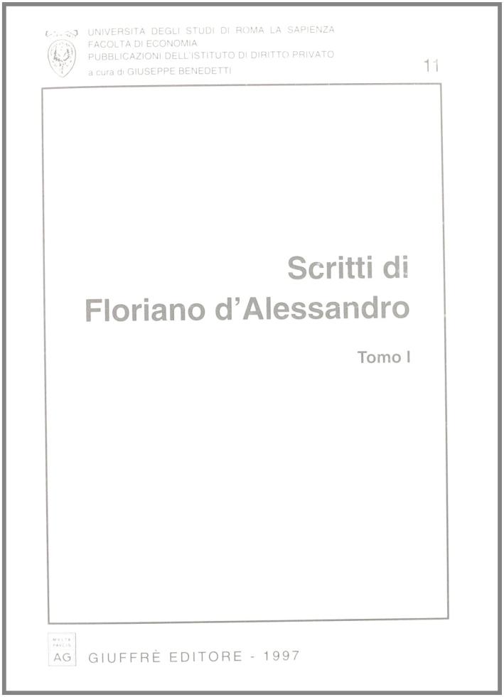 Scritti di Floriano D'Alessandro