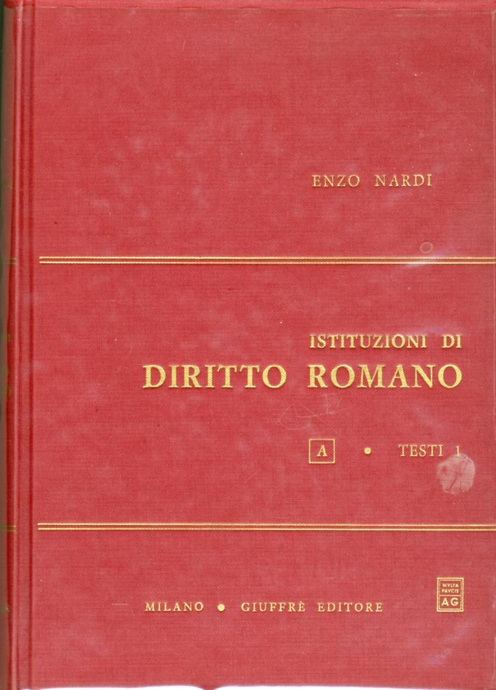Istituzioni di diritto romano. Vol. 1.