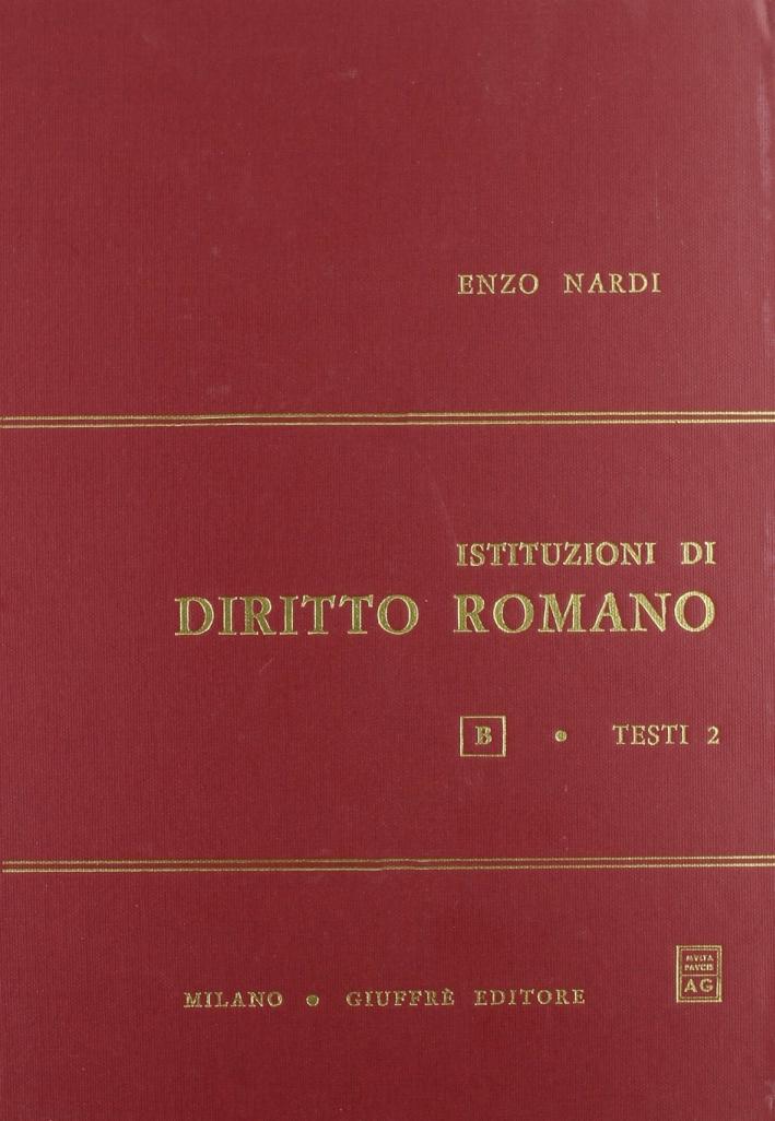 Istituzioni di diritto romano. Vol. 2.