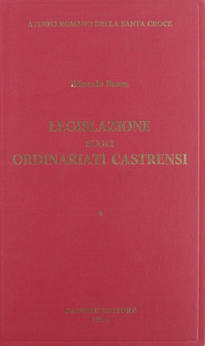 Legislazione sugli ordinariati castrensi