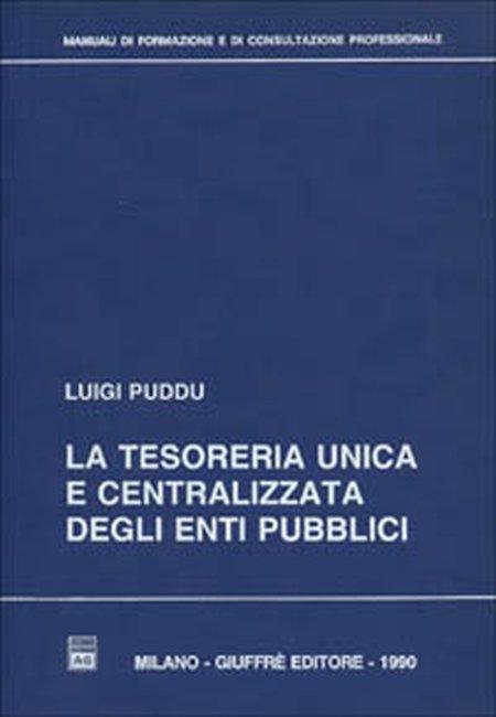 La tesoreria unica e centralizzata degli enti pubblici