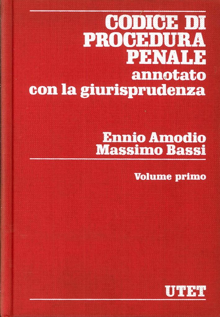 Codice di Procedura Penale. Annotato con la Giurisprudenza.
