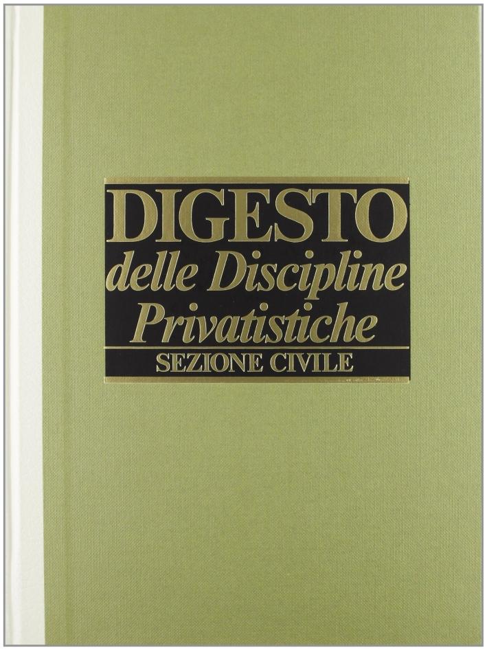 Digesto. Discipline privatistiche. Sezione civile. Vol. 8.