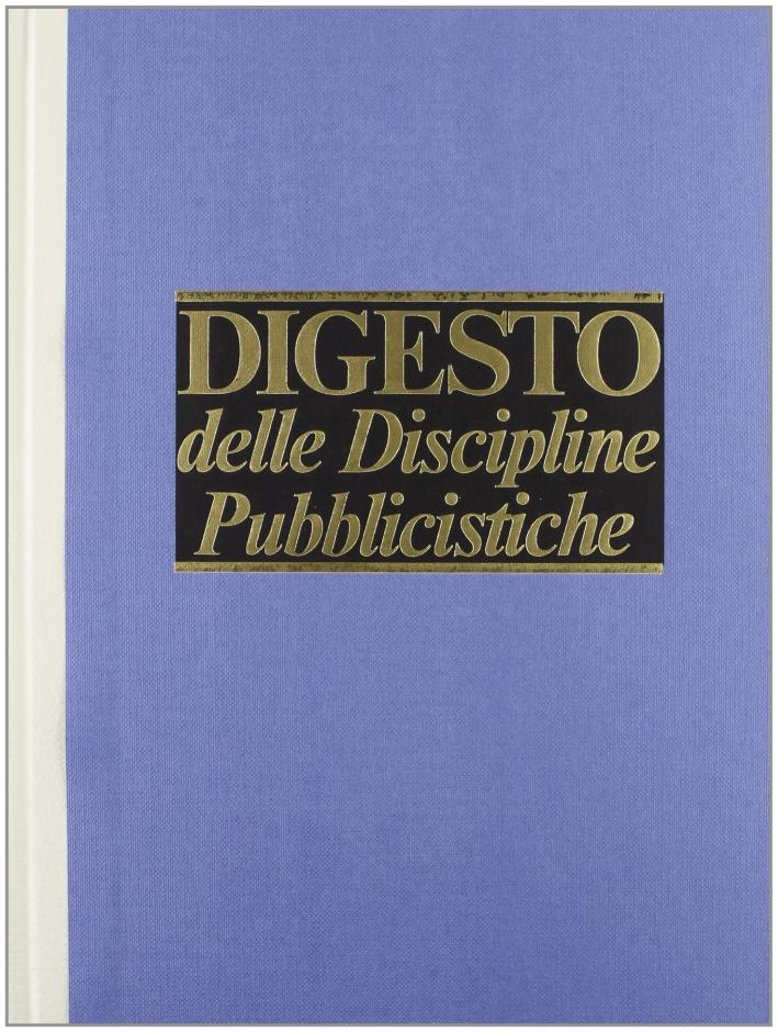 Digesto. Discipline pubblicistiche. Vol. 8