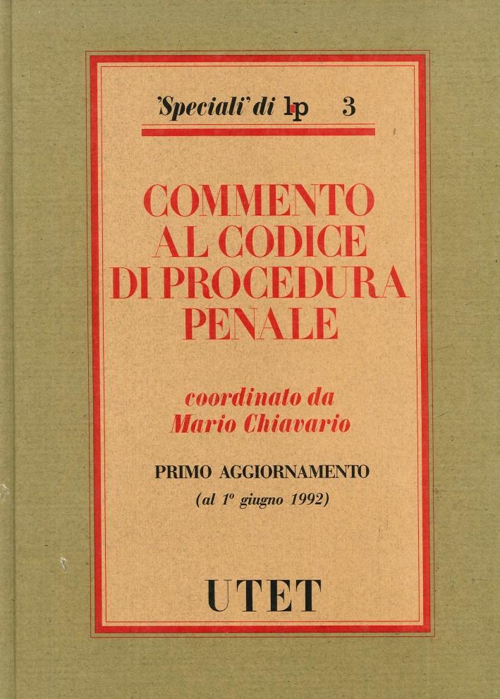Commento al nuovo Codice di procedura penale. 1º aggiornamento.
