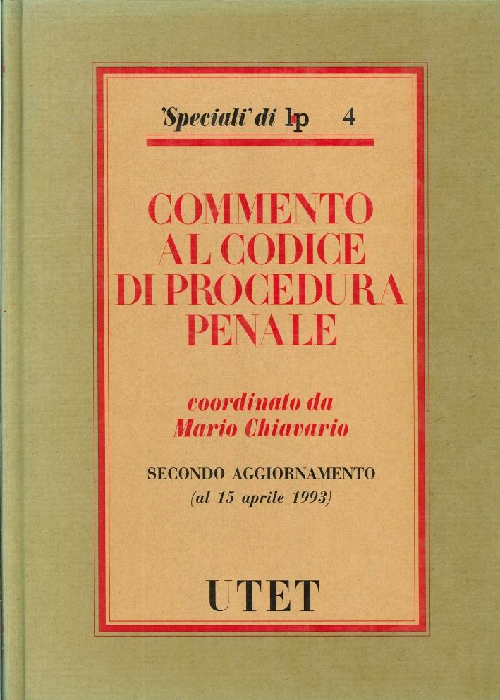 Commento al Nuovo Codice di Procedura Penale. 2º Aggiornamento
