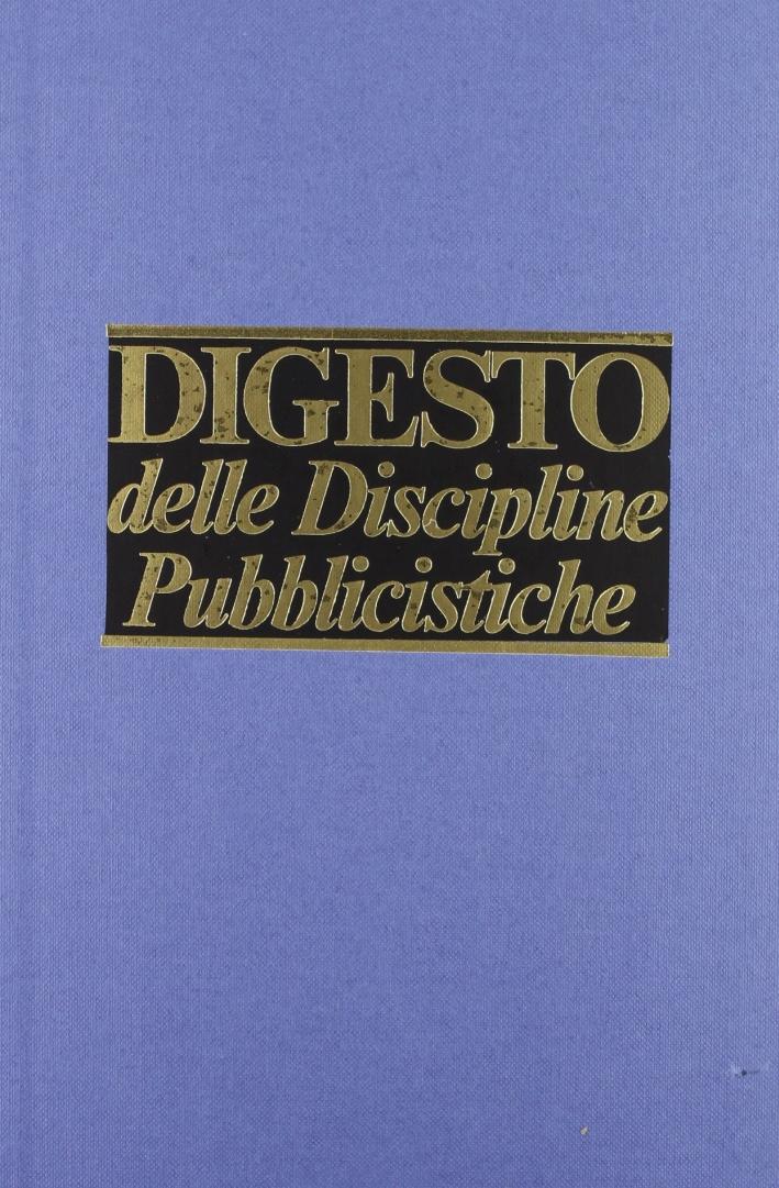 Digesto. Discipline pubblicistiche. Vol. 9.