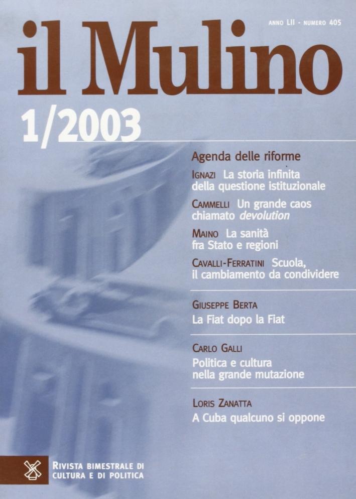 Il Mulino. Vol. 405