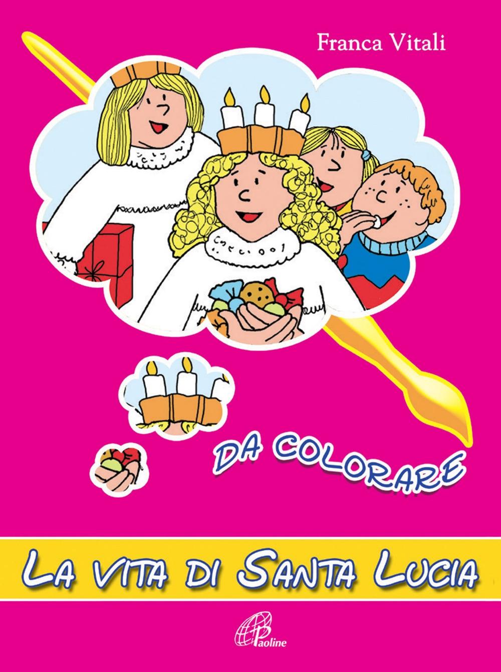 La vita di santa Lucia da colorare