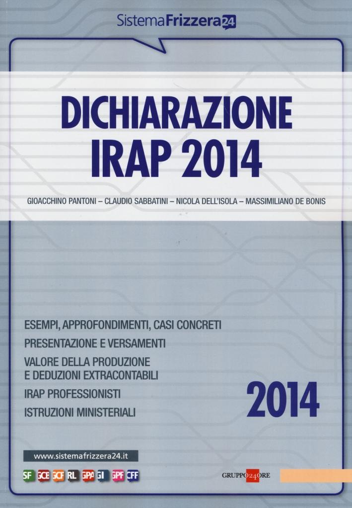 Dichiarazione Irap 2014