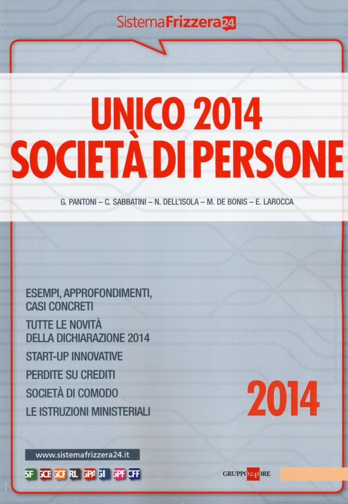 Unico 2014. Società di persone