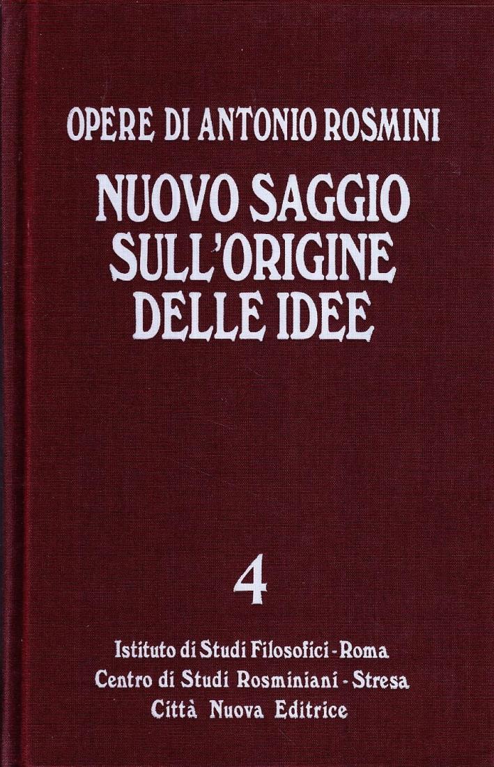 Nuovo Saggio sull'Origine delle Idee. Vol. 4