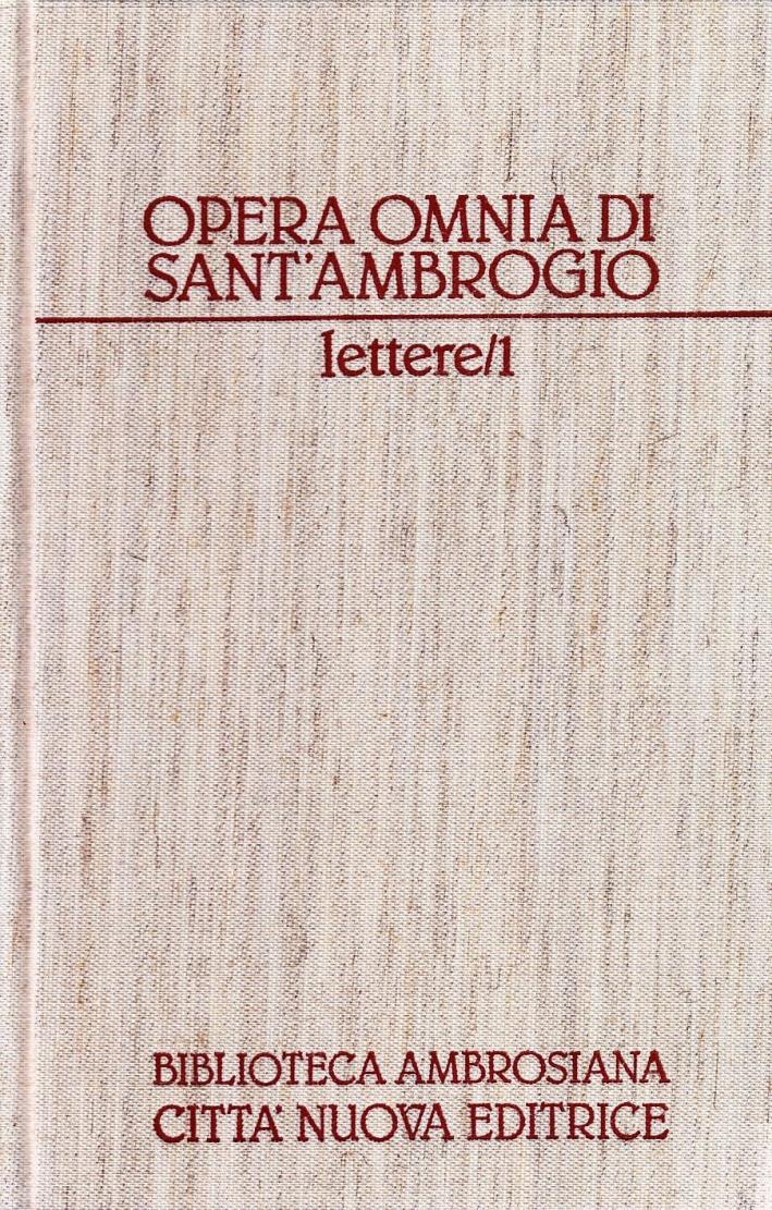 Opera Omnia. Vol. 19/1: lettere.