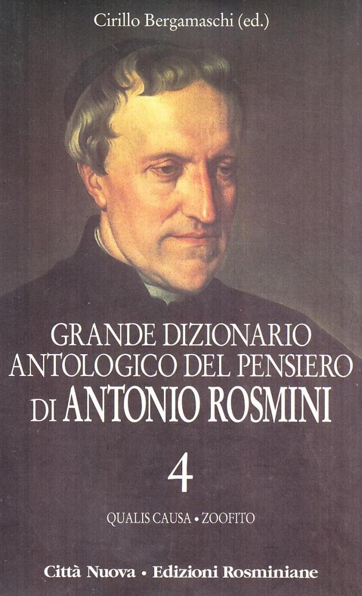 Grande dizionario antologico del pensiero di Antonio Rosmini. Con CD-ROM.