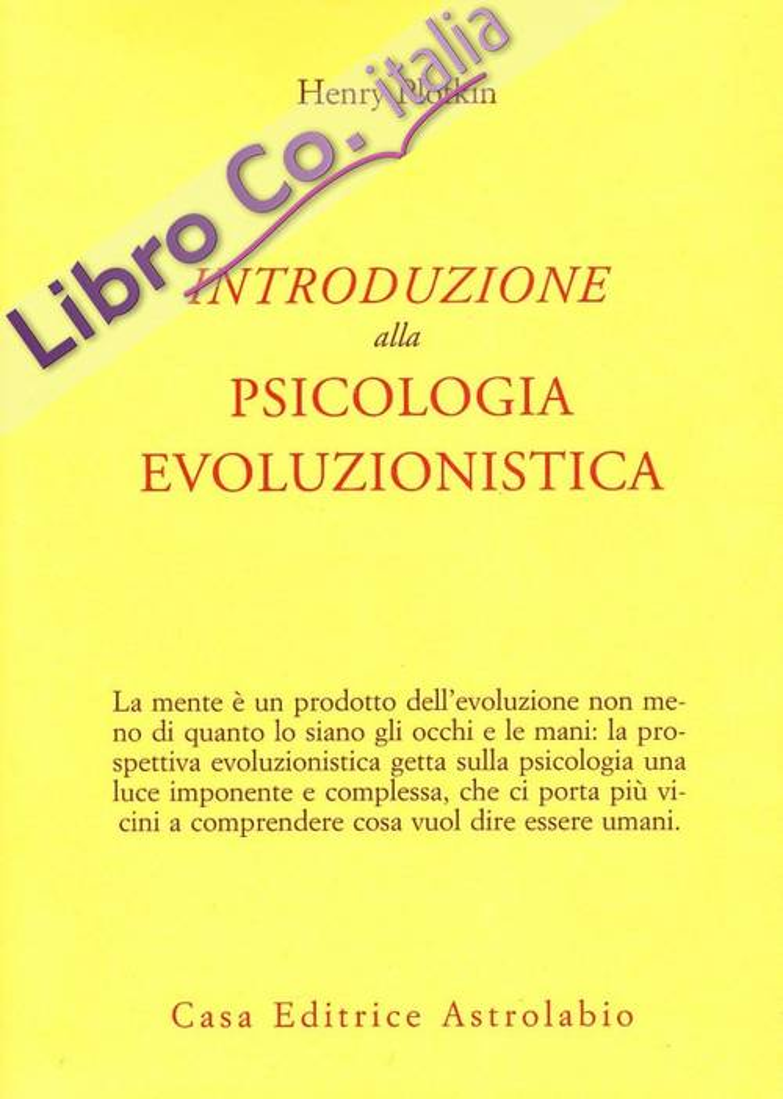 Introduzione alla psicologia evoluzionistica.