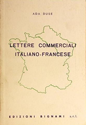 Lettere commerciali italiano-francese.