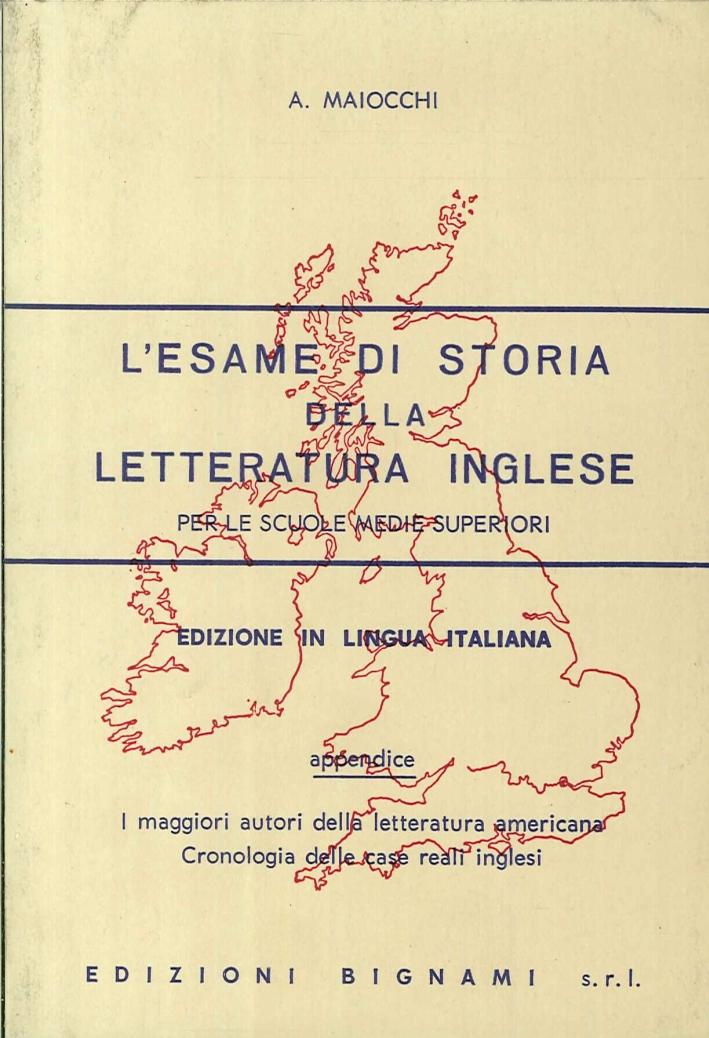 L'esame di storia della letteratura inglese.