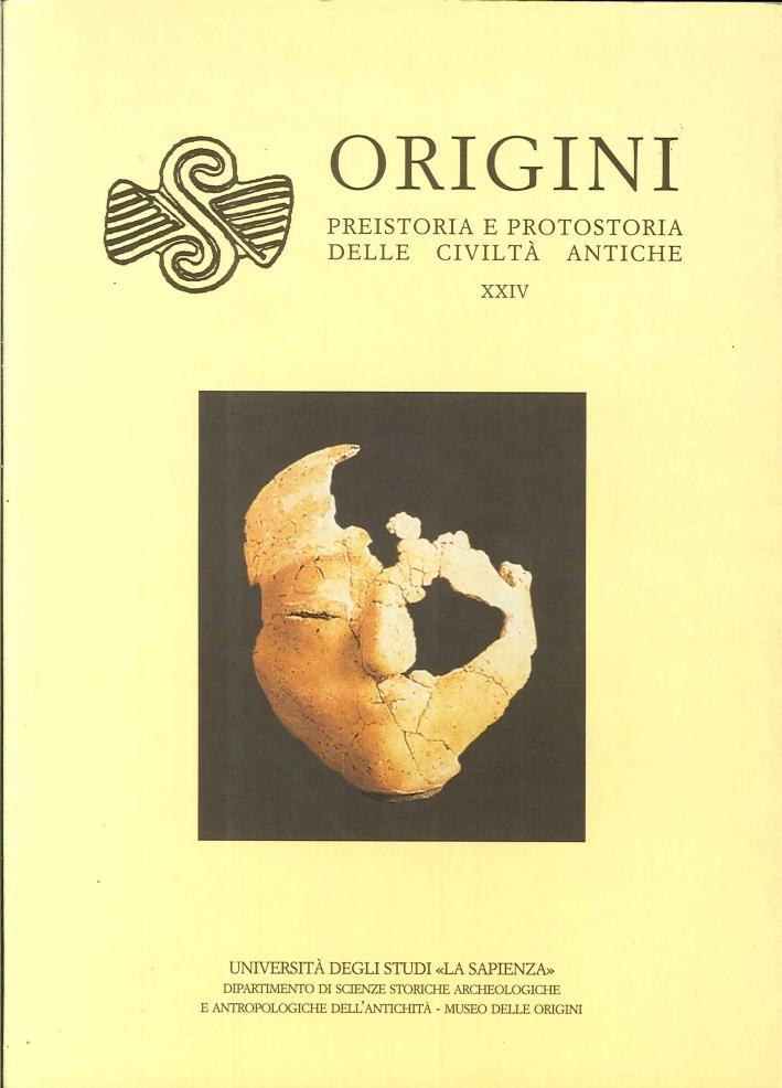 Origini. Rivista di preistoria e protostoria delle civiltà antiche. 24