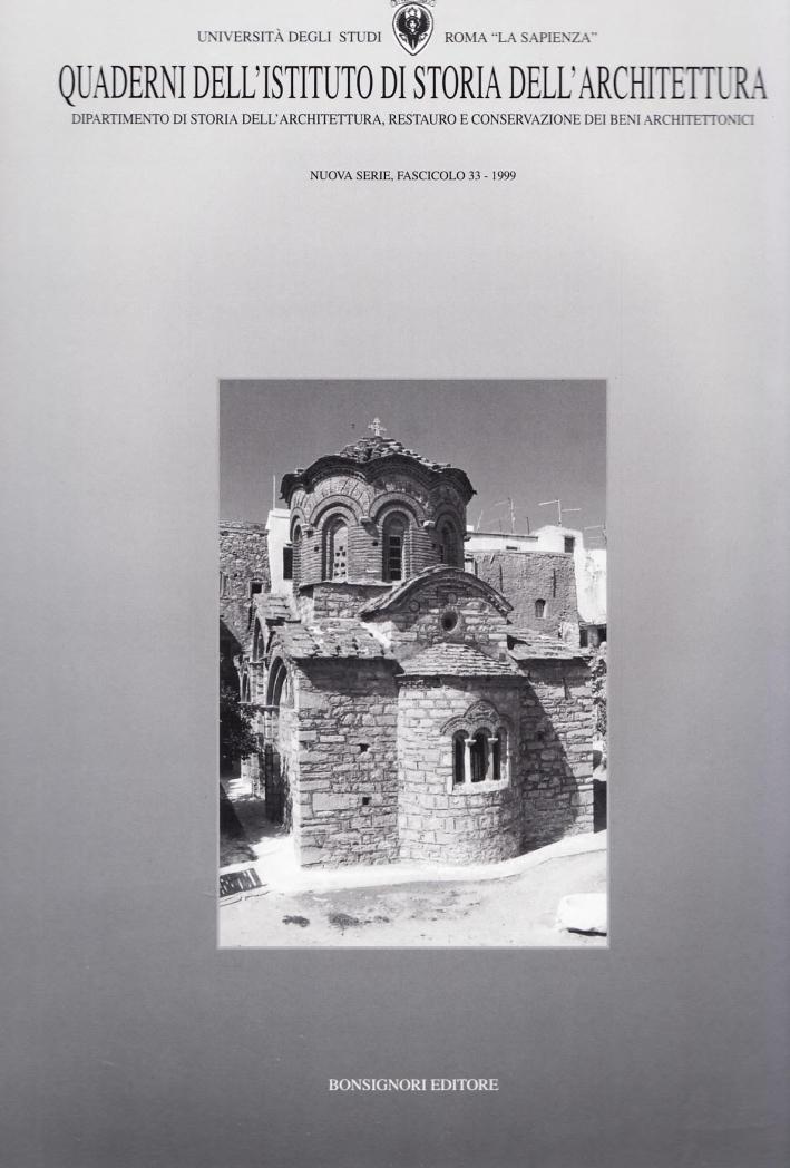 Quaderno dell'Istituto di storia dell'architettura. Vol. 33