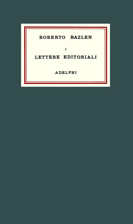 Lettere editoriali.