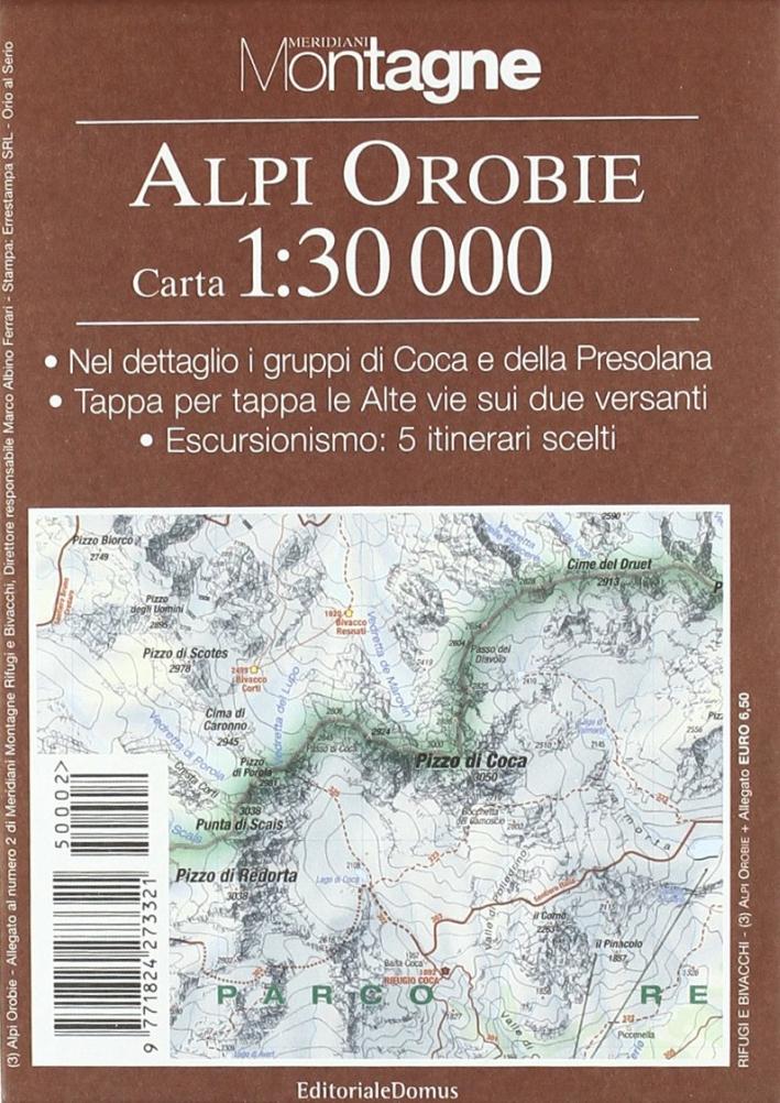 Orobie. Con carta 1:30.000