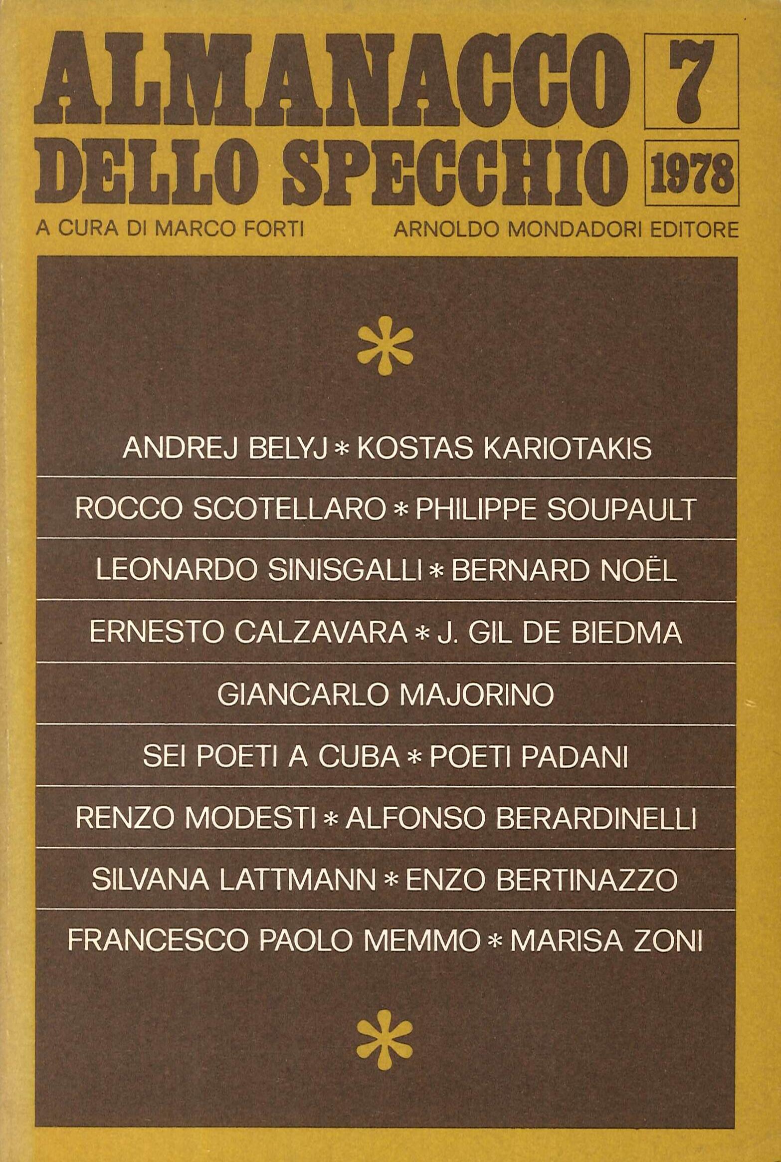 Almanacco Specchio N 7. 1978