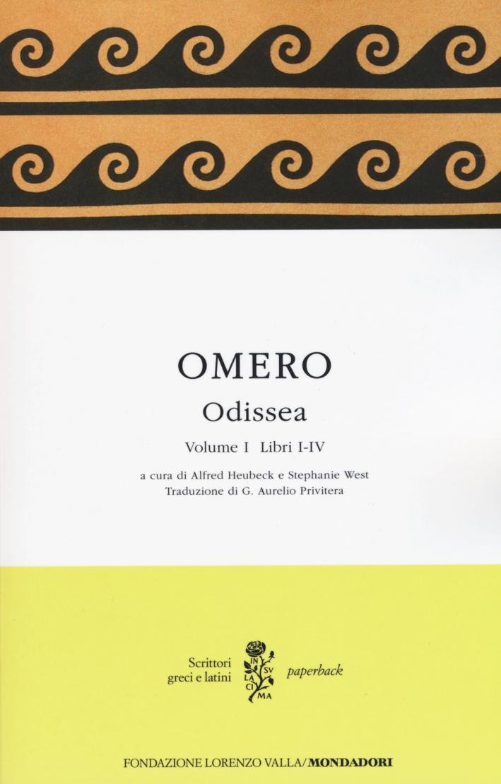 Odissea. Testo greco a fronte. Vol. 1: Libri I-IV