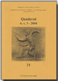 Quaderni del Dipartimento di filologia linguistica e tradizione classica