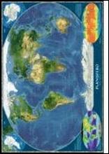 Mondo Planisfero Dal Satellite 109x76 in carta plastificata opaca. [riferimento 4]