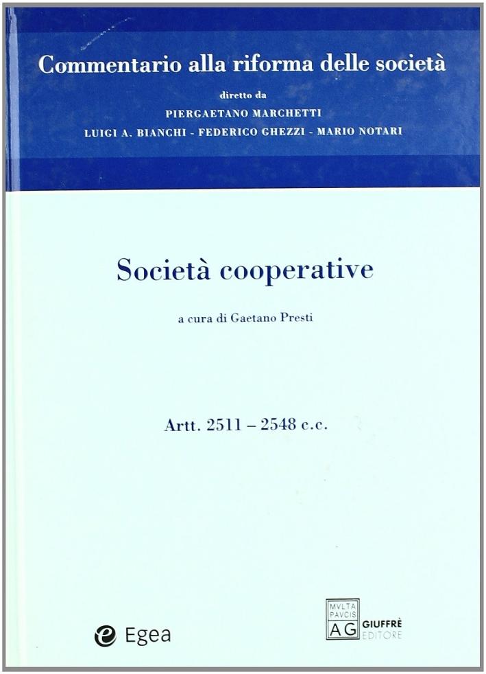 Società cooperative. Artt. 2511-2548