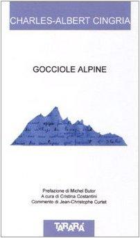 Gocciole alpine. Testo a fronte