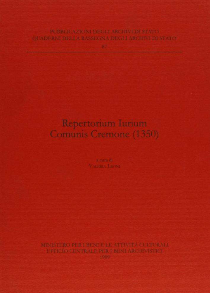 Repertorium iurium comunis Cremone (1350)