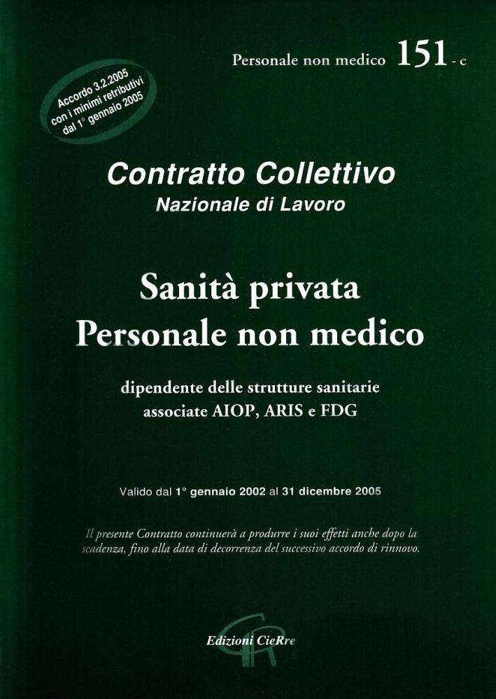 CCNL sanità privata personale non medico
