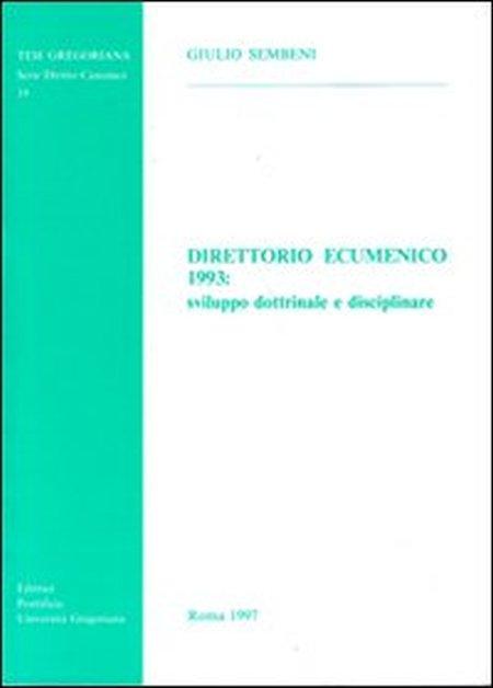 Direttorio ecumenico 1993: sviluppo dottrinale e disciplinare