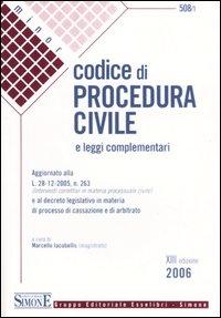 Codice di procedura civile. Leggi complementari
