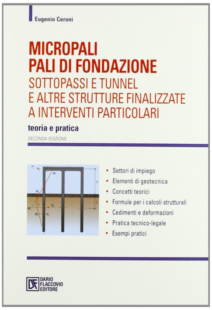 Micropali, pali di fondazione, sottopassi e tunnel e altre strutture finalizzate a interventi particolari
