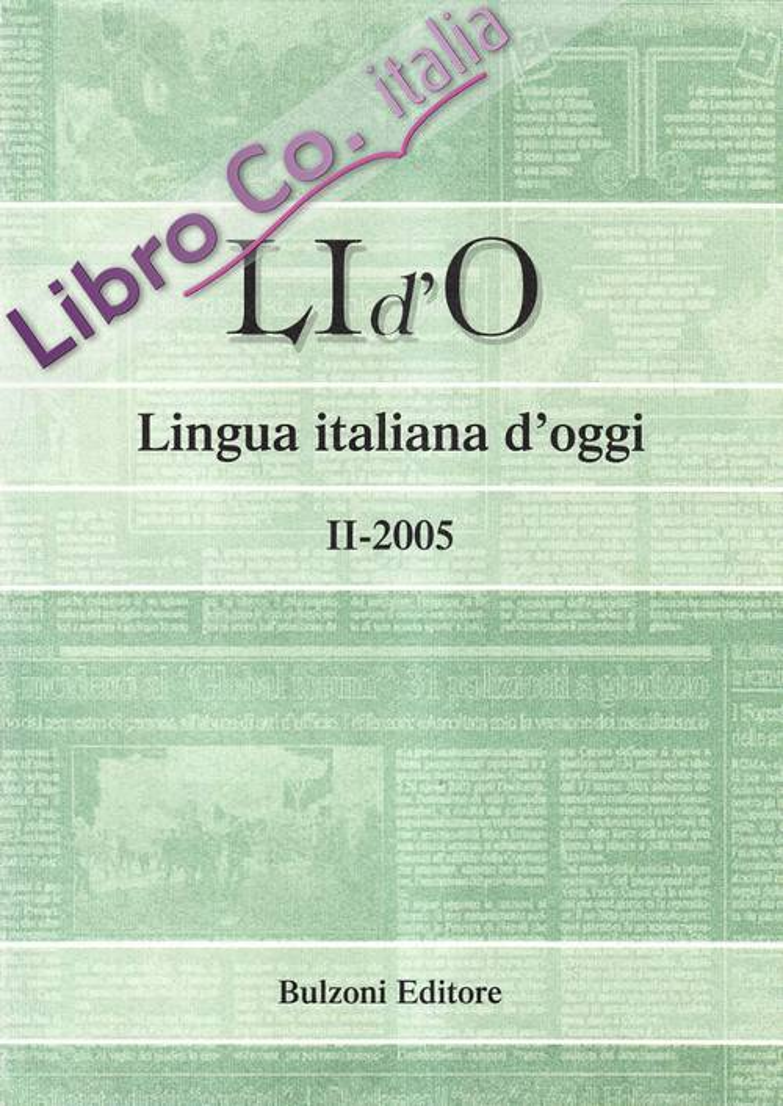 LI d'O. Lingua italiana d'oggi (2005). Vol. 2