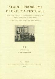 Studi e problemi di critica testuale. Vol. 71. 2. 2005