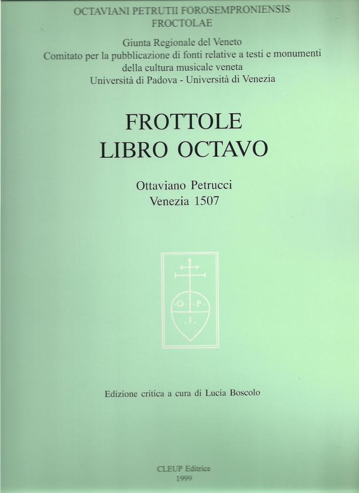 Frottole. Libro octavo