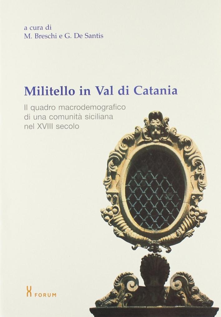 Militello in Val di Catania. Il quadro macrodemografico di una comunità siciliana nel XVIII secolo