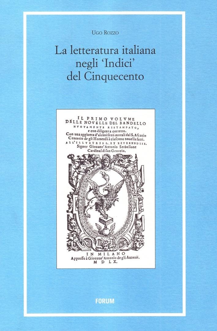 La Letteratura Italiana negli