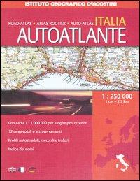 Autoatlante Italia 1:250 000. Ediz. multilingue