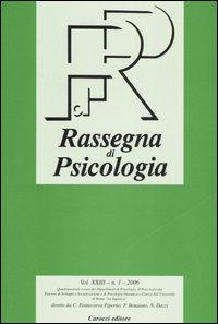 Rassegna di Psicologia (2006). Vol. 1.